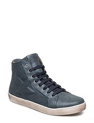 Shoe with lace - 609-1 NAVY