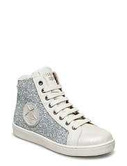 Shoe with laces - 7009 SILVER