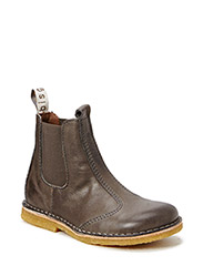 Chelsea boot in leather - Elephant