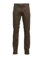 5 pocket stretch pants - KHAKI