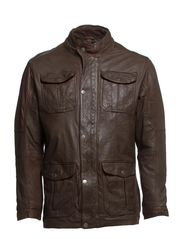 Washed sheep jacket - BROWN