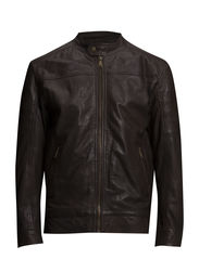 Washed sheep leather jacket - BROWN