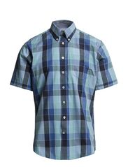 Checked shirt S/S - BLUE