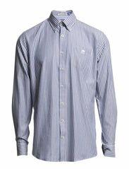 Striped oxford shirt, L/S - BLUE