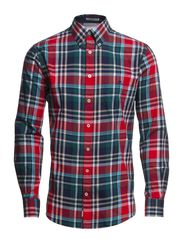 Checked twill shirt l/s - RED
