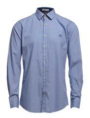 Dot shirt l/s - DK BLUE DOT