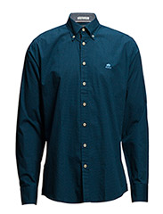 Shirt with dot print L/S - NAVY
