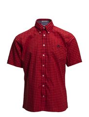 2 tone checked shirt S/S - RED