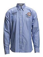 OxfordshirtL/Swithappl. - BLUE