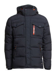 Quilted down jacket - DK NAVY