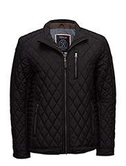 Quiltedbikerjacket - BLACK