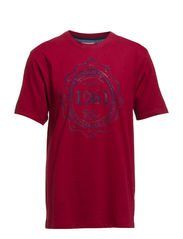 O-Neck tee with print - BIKING RED