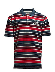 Striped polopiqué - RED