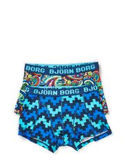 SHORT SHORTS, 8-Bit Paisley & Pulse, 2-P - Dark Denim
