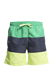 LOOSE SHORTS C.B. 1, Colourblock, 1-P - Bright Green