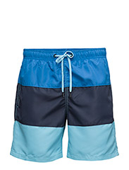 LOOSE SHORTS C.B. 1, Colourblock, 1-P - STRONG BLUE