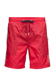 LIGHT LOOSE SHORTS, Light Woven Solids, 1-P - HIGH RISK RED