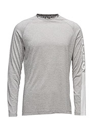1p LONG SLEEVE TEE AARON - H108BY LIGHT GREY MELANGE