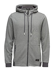 1p HOODIE JACKET BAY - IRON GREY MELANGE