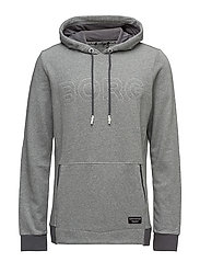 1p HOOD BROOK - IRON GREY MELANGE