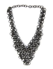 vera necklace - gun metal