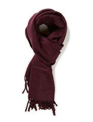 top scarf - aubergine
