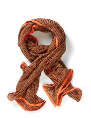 stardust scarf - terra cotta