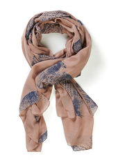 feather scarf - dusty rose