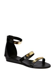 Black Lily crown sandal