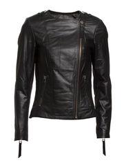 classic biker jacket - black