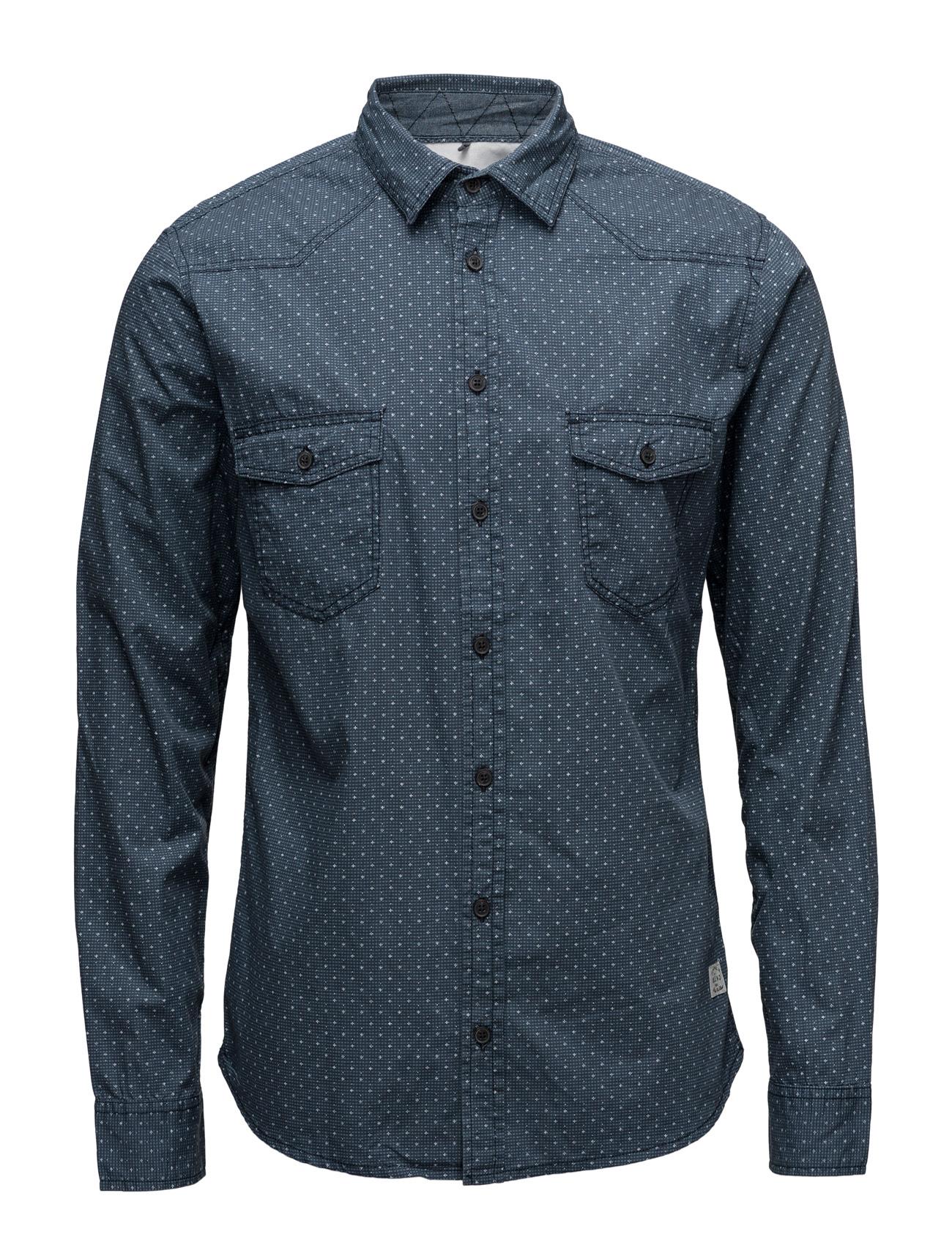 Shirt Blend Casual sko til Herrer i Mørkeblå