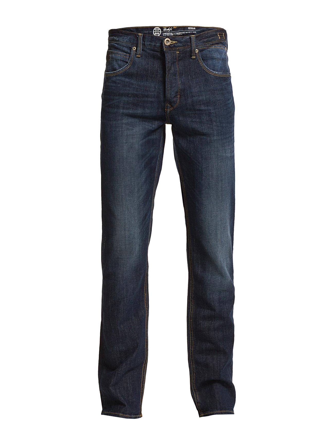 Jeans - Noos Rock Fit Blend Almindelig til Mænd i Mørkeblå