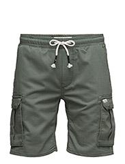 Denim shorts - LEAF GREEN