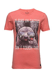 T-shirt - CORAL SEA RED