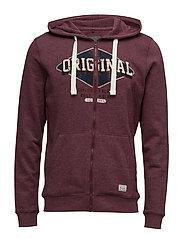Sweatshirt - WINE RED