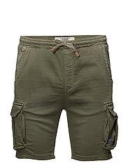 Jogg denim shorts - DUSTY OLIVE GREEN