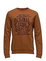 Sweatshirt - RUST BROWN