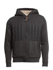Knit Cardigan - Charcoal