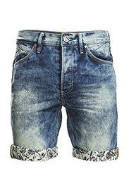 Denim shorts - Denim middleblue