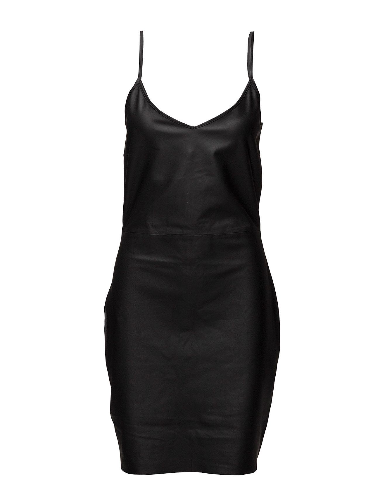 Leather Dress 3 BLK DNM Korte kjoler til Damer i Sort