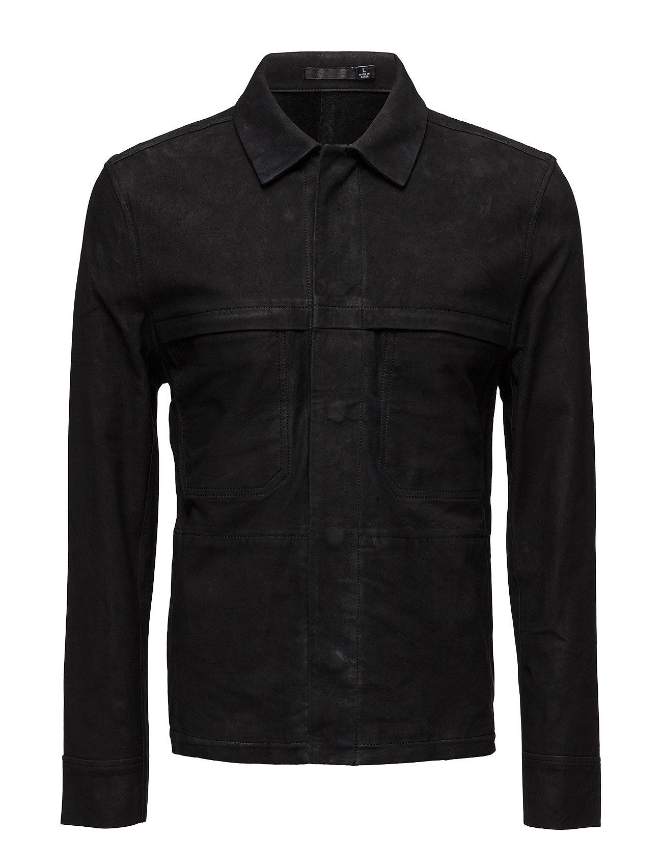 Leather Jacket 48 BLK DNM Jakker til Herrer i Sort