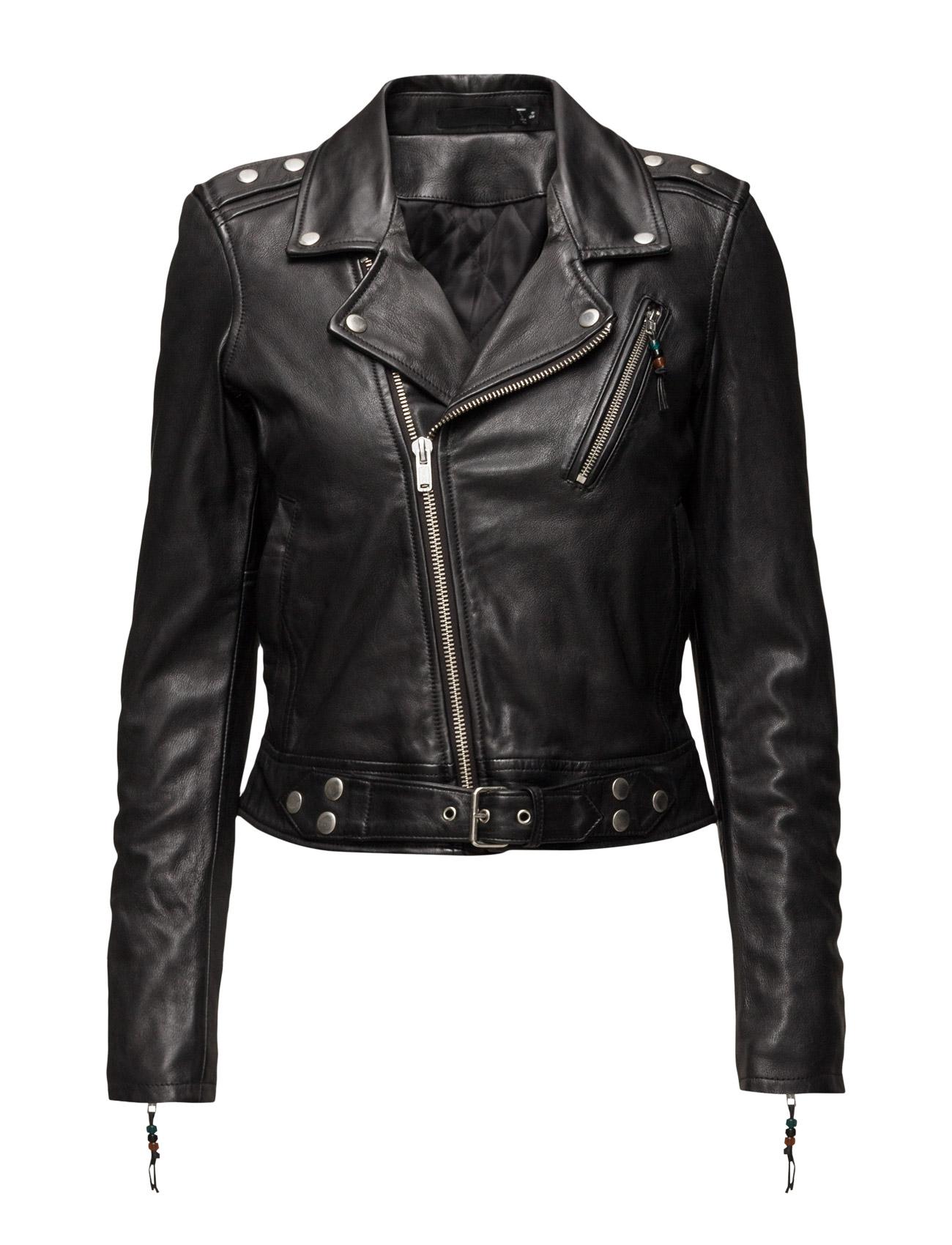 Leather Jacket 1 BLK DNM Jakker til Damer i Sort