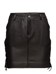 LEATHER SKIRT 5 - BLACK