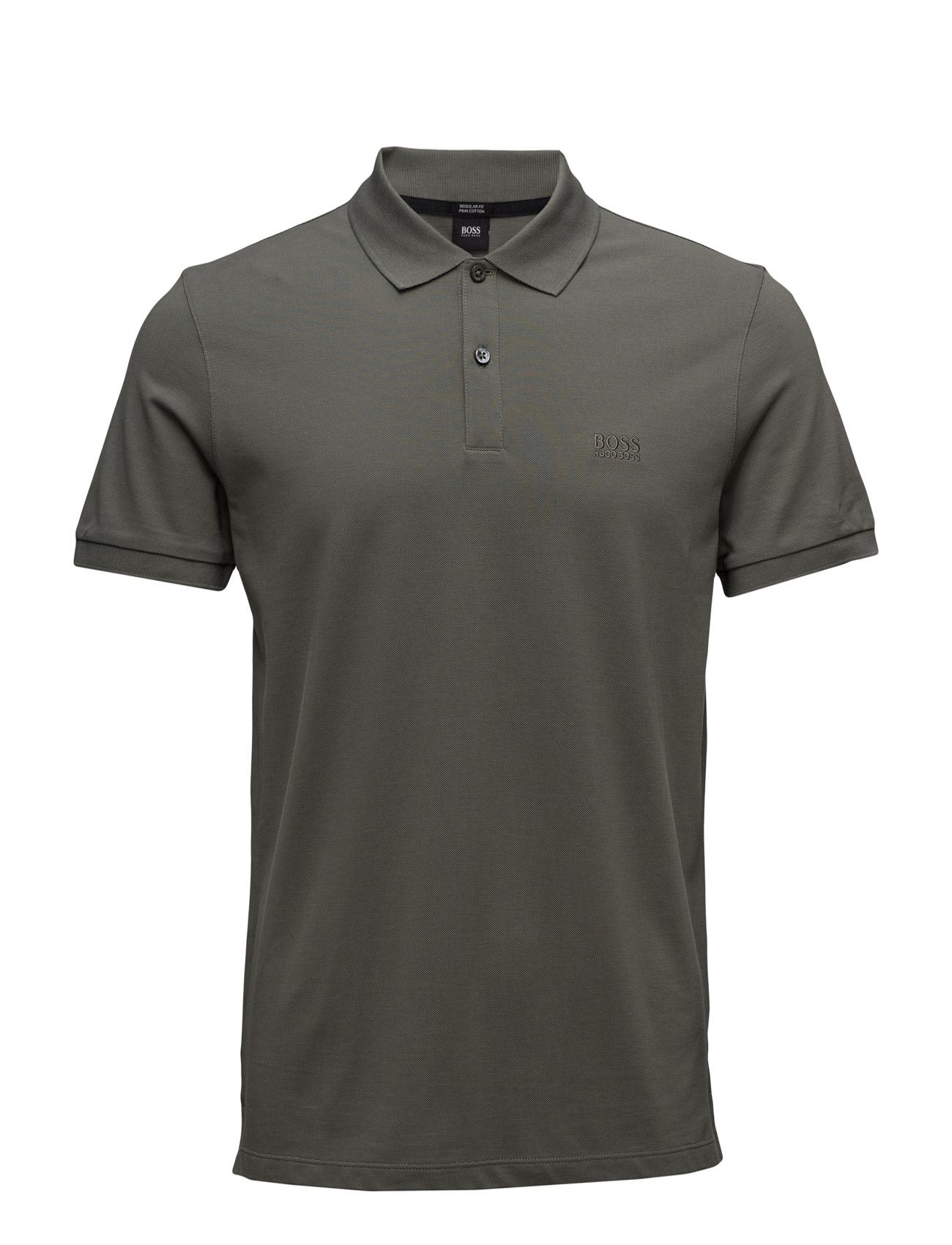 Pallas BOSS Kortærmede polo t-shirts til Herrer i Mørkegrøn