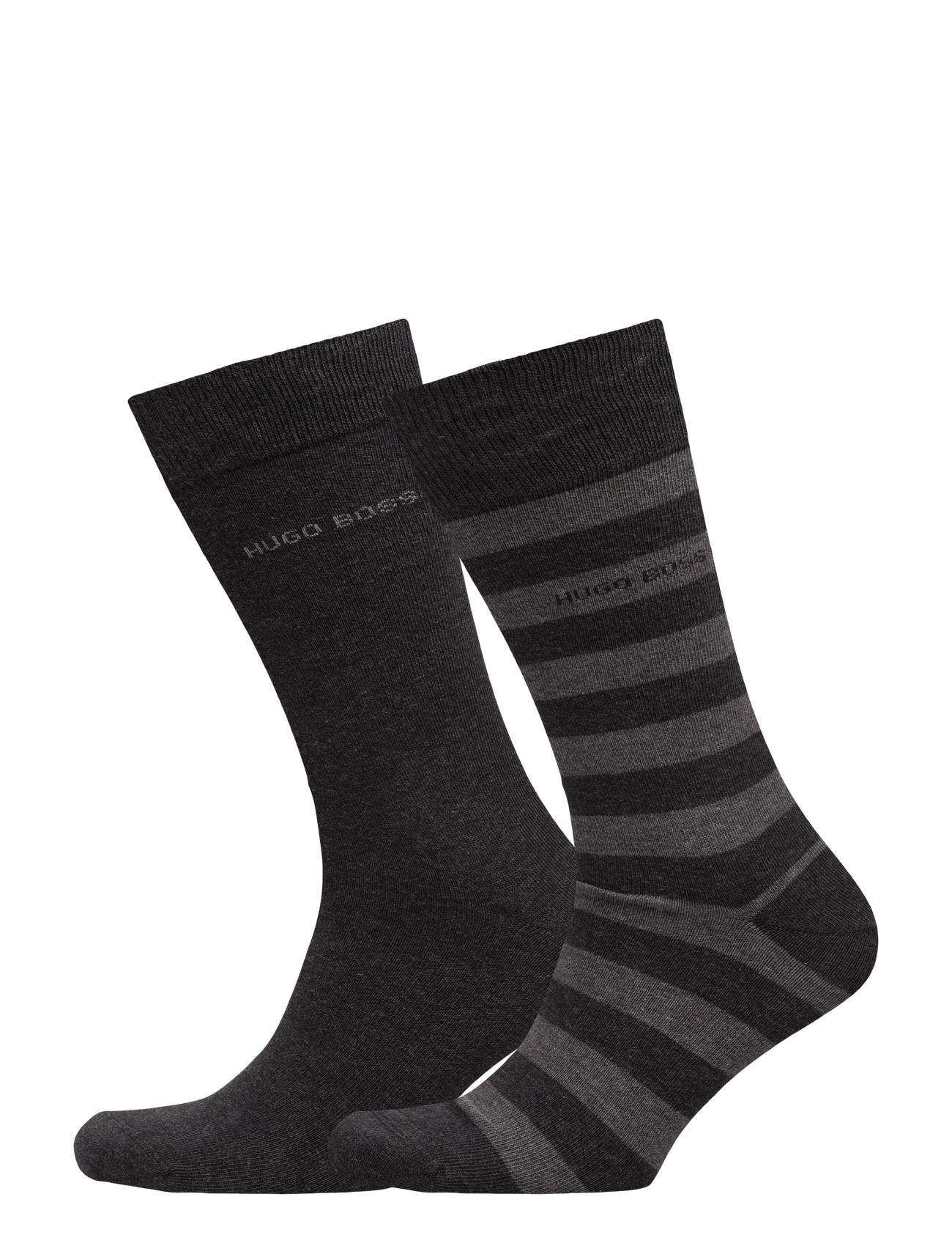 Twopack Block Stripe BOSS Sokker til Mænd i Sort