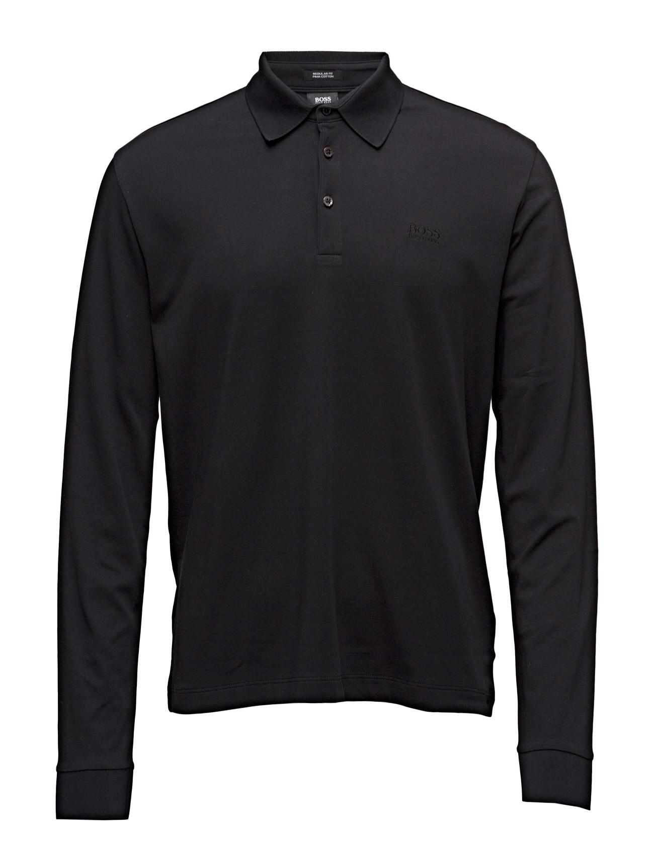 Phillian BOSS Længærmede polo t-shirts til Mænd i Trækul