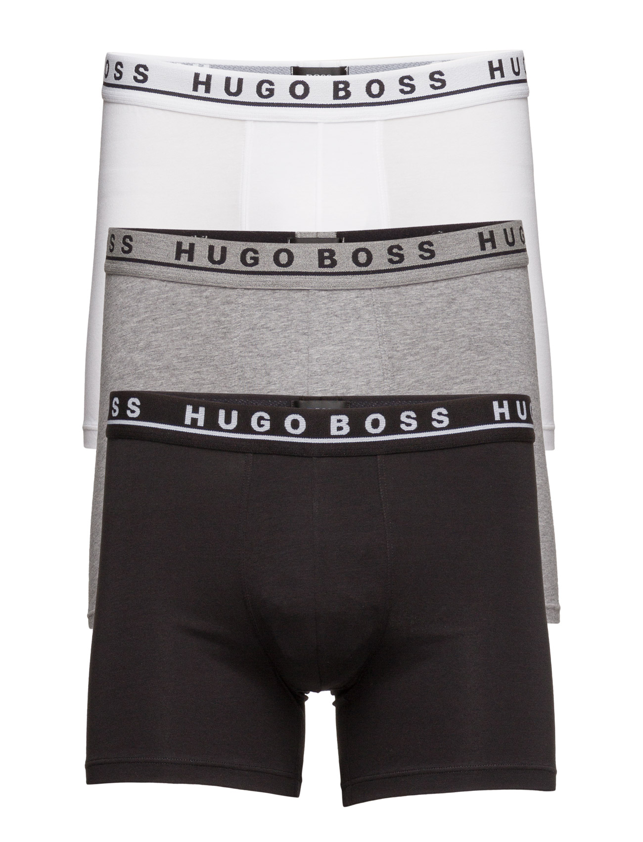 Boxer Brief 3p Co/El BOSS Boxershorts til Herrer i
