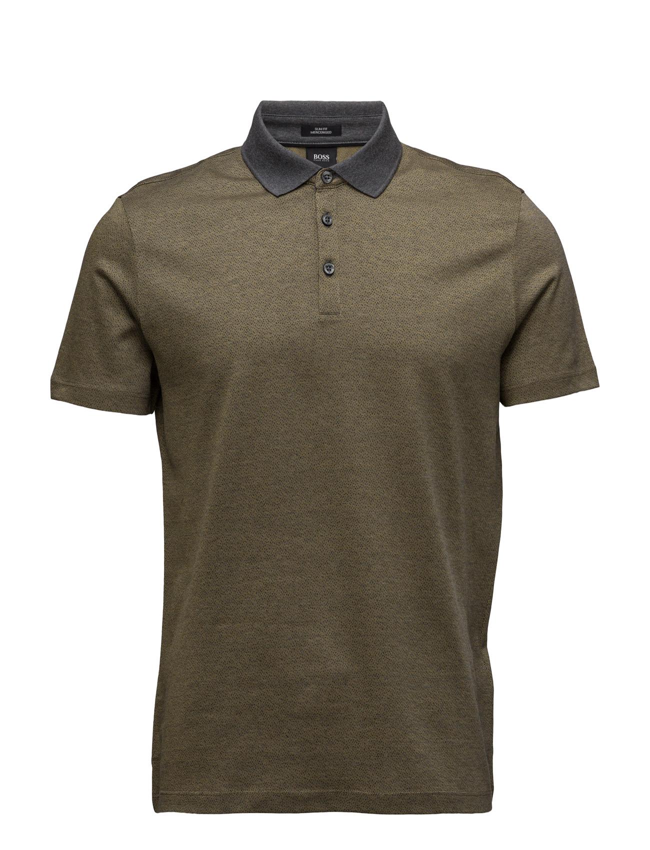 Platt 03 BOSS Kortærmede polo t-shirts til Mænd i