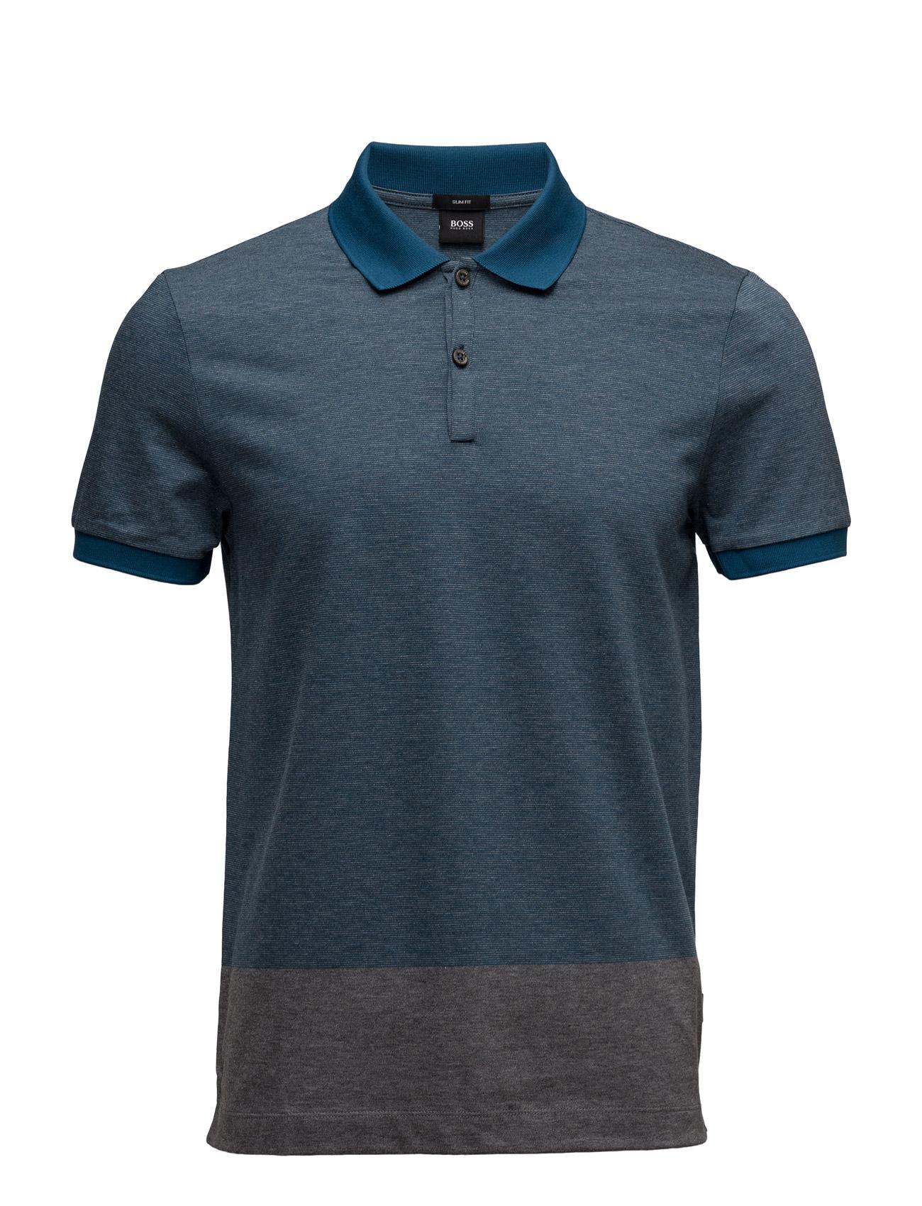 Phillipson 08 BOSS Kortærmede polo t-shirts til Mænd i turkis