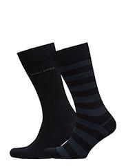 Twopack Block Stripe - DARK BLUE